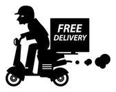 Delivery boy — Stock Vector