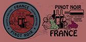 Fine Wines, Pinot Noir stamp set — Stock Vector