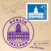 Dublin, Ireland stamp — Stock Vector