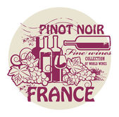 Fine Wines stamp — Stock Vector