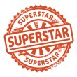 Superstar stamp — Stock Vector