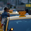 Stock Photo: Yellow sign of Istanbul taxi