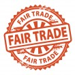 Fair Trade stamp — Stock Vector