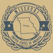 Missouri, USA stamp — Stock Vector