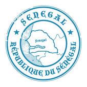 Senegal-stempel — Stockvektor