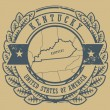 Kentucky, USA stamp — Stockvektor