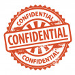 Confidential stamp — Stock Vector
