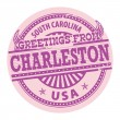 Greetings from Charleston, South Carolina stamp — Stock Vector