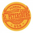 Greetings from St. Petersburg, Florida stamp — Stock Vector