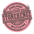 Greetings from Stonehenge, England stamp — Stock Vector