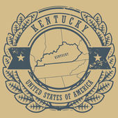 Kentucky, USA stamp — Stock Vector