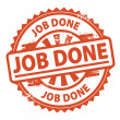 Job Done stamp — Stockvectorbeeld