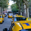 Stock Photo: Traditional yellow taxi