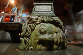 Medusa head in the Basilica Cistern — Stock Photo