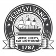 Pennsylvania stamp — Stock Vector
