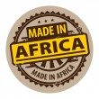Made in Africa stamp — Stock Vector