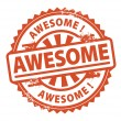 Stock Vector: Awesome stamp