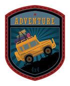 Off-road adventure — Stock Vector
