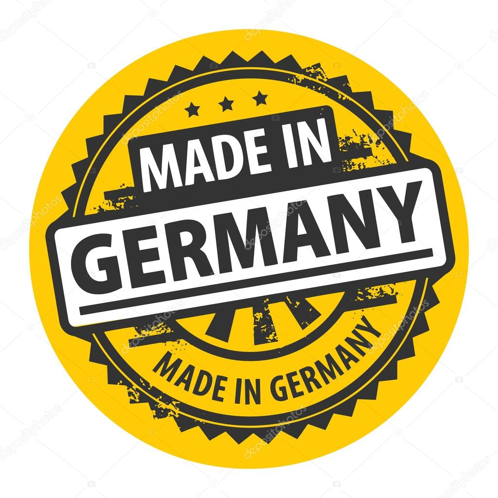 Made in germany stamp — stock vector fla