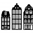 Old Holland houses — Stock Vector