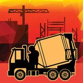 Concrete mixer truck — Stock Vector
