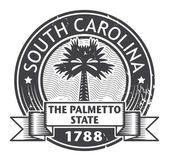 South Carolina stamp — Vector de stock