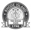 Rhode Island stamp — Stock Vector