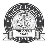 Rhode Island stamp — Stock Vector