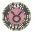 Zodiac Taurus stamp — Stock Vector
