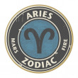 Постер, плакат: Zodiac Aries stamp