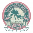 South Pacific Ocean stamp — Stock Vector