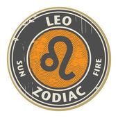 Zodiac Leo stamp — Stock Vector
