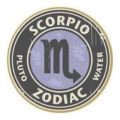 Zodyak scorpio damgası — Stok Vektör