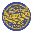 Clearwater Beach, Florida stamp — Stock Vector