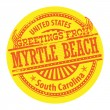 Myrtle Beach, South Carolina stamp — Stock Vector