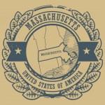 Massachusetts, USA stamp — Stock Vector