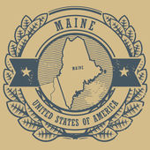 Maine, USA stamp — Stock Vector