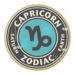 Zodiac Capricorn symbol — Stock Vector