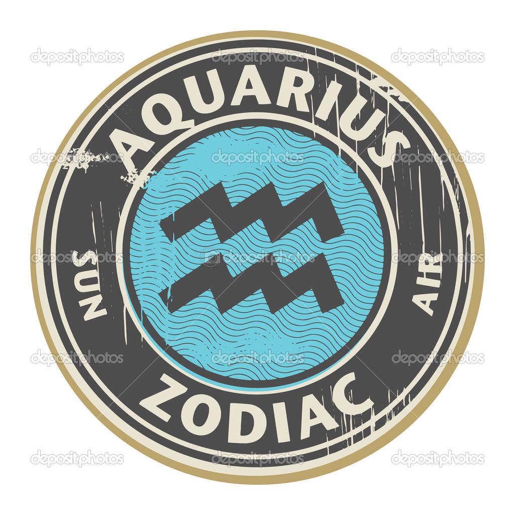 Aquarius Horoscope Symbol Zodiac  Stock