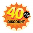 40 percent Discount label — Stock Vector