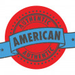 Authentic American stamp — Stock Vector