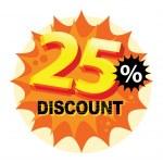 25 percent Discount label — Stock Vector #32646827