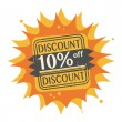 Stock Vector: 10 percent Off, Discount stamp
