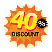 40 percent Discount label — Stock Vector