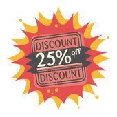 Sconto del 25% off, etichetta — Vettoriale Stock