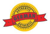 Timbre allemand authentique — Vecteur