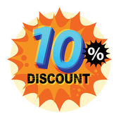 10 percent Discount label — Vector de stock