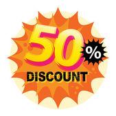 50 percent Discount label — Stock Vector