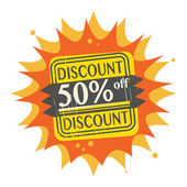 50 percent Off, Discount label — Stock Vector