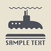 Submarine icon or sign — Stock Vector